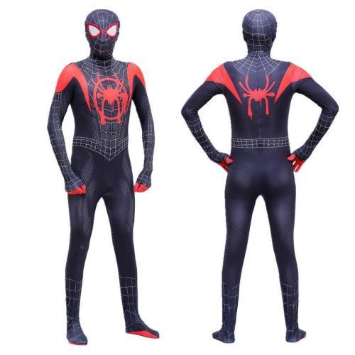 Spider Man Miles Morales Halloween Cosplay Costume Adult Boys Bodysuit