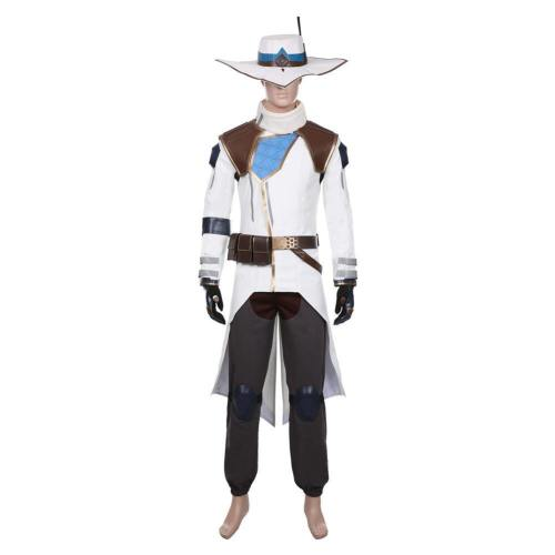 Game Valorant Cypher Halloween Coat Trousers Outfit Cosplay Costume
