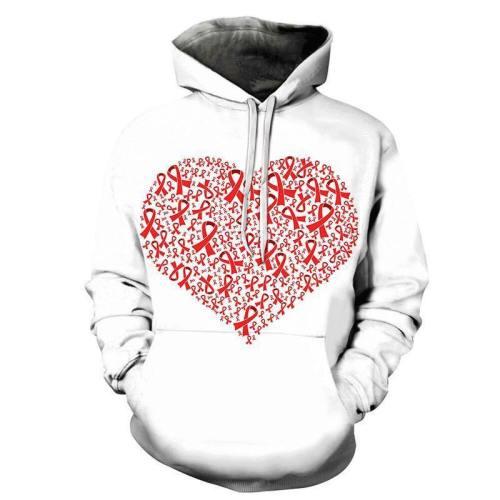 Red Ribbon Bca 3D - Sweatshirt, Hoodie, Pullover