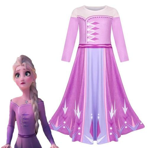 Frozen 2 Elsa Anna Costume For Teen Girl Dress New Year Child Up Lace Party Birthday Christmas Gift
