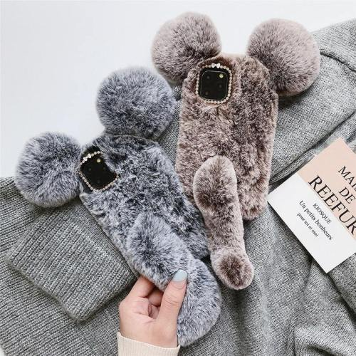 3D Fluffy Ears With Tail Phone Case
