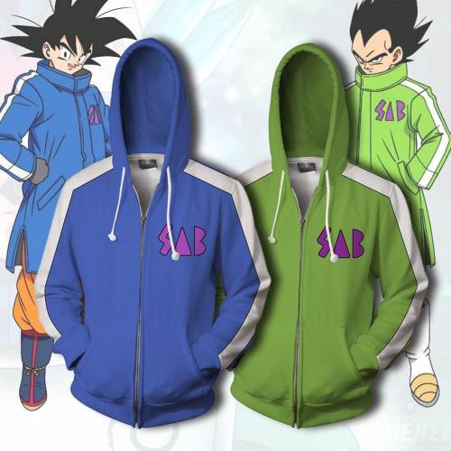 Dragon Ball Animation Cosplay Cap Zipper 3D Hoodie Garment