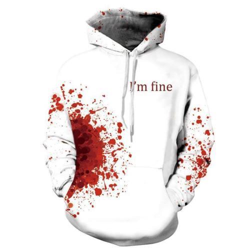 3D Hoodie Stylish Printed Pullover Sweatshirt
