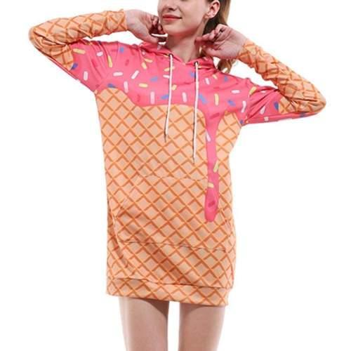 Doughnut Hoodie Dress