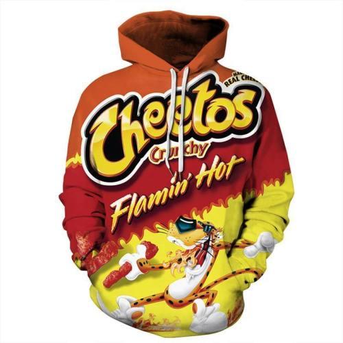 Unisex 3D Cheetos Print Pullover Hoodies Sweatshirt Hollween Hoodie