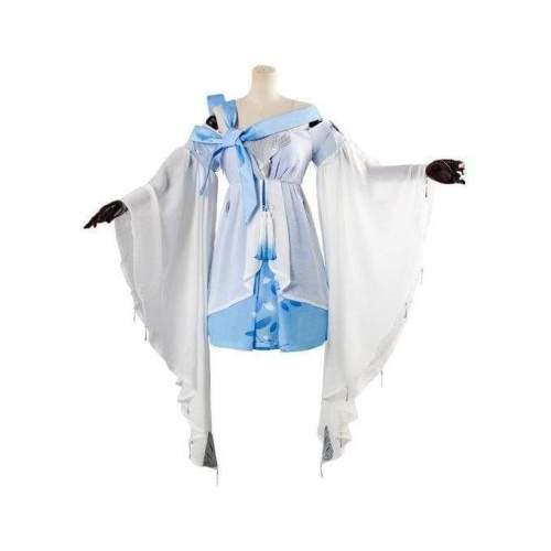 Vocaloid Vsinger Blue Dress Cosplay Costume