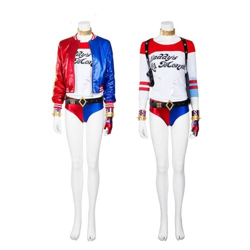 Suicide Squad Harley Quinn Costume Halloween Party Cosplay Suit