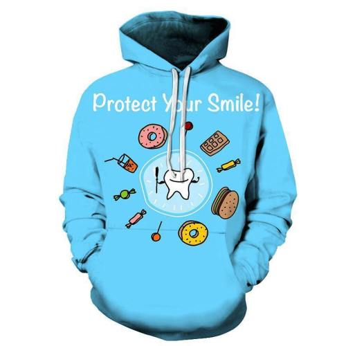 Protect Your Smile Dentist 3D Hoodie Sweatshirt Pullover