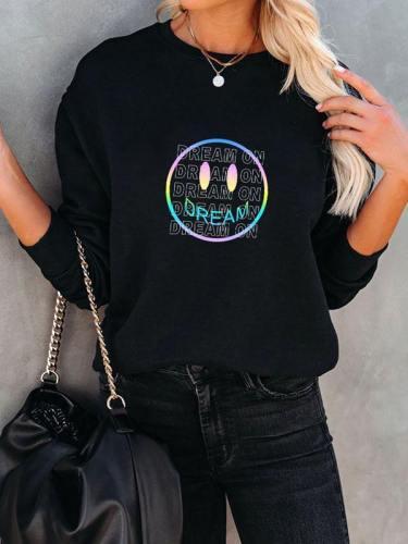 Dream Ombre Smiley Oversized Sweatshirt