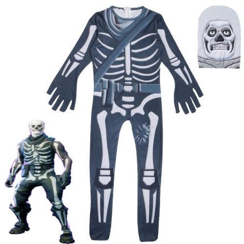 Fortnite Skull Trooper Halloween Cosplay Costume Zentai Jumpsuits