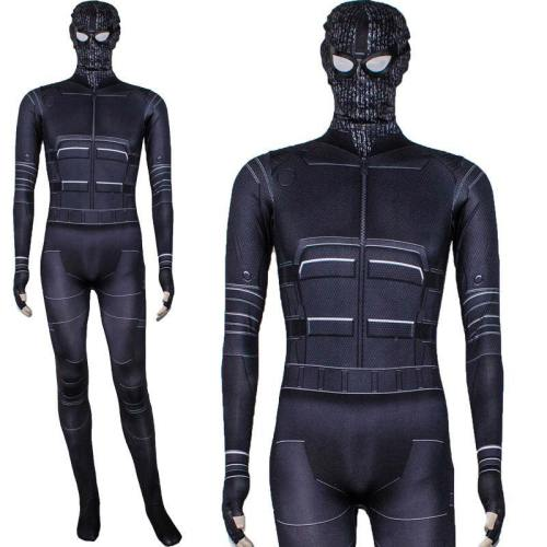Spiderman Far From Home Spiderman Jumpsuit Costume Stealth Suit Cosplay For Adults And Kids