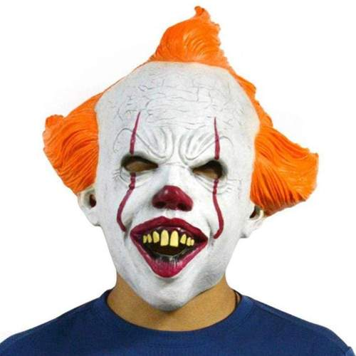 Halloween It: Chapter 2 Pennywise Latex Mask Cosplay Props