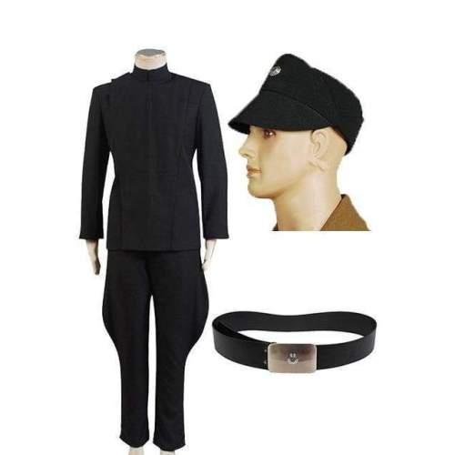 Star Wars Imperial Officer Black Uniform Costume + Hat + Belt
