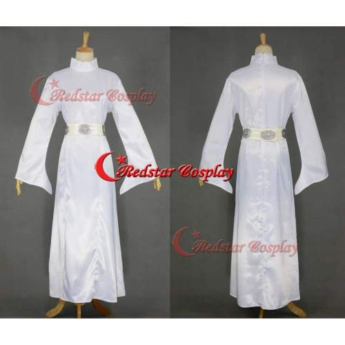 Star Wars Cosplay Princess Leia Cosplay Costume White Dress