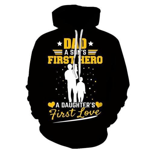 Dad A Son'S First Hero 3D - Sweatshirt, Hoodie, Pullover