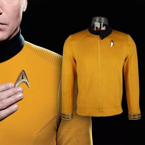 Star Trek Discovery Season 2 Starfleet Captain Kirk Shirt Uniform Badge Costumes Men Adult Halloween Cosplay Costume