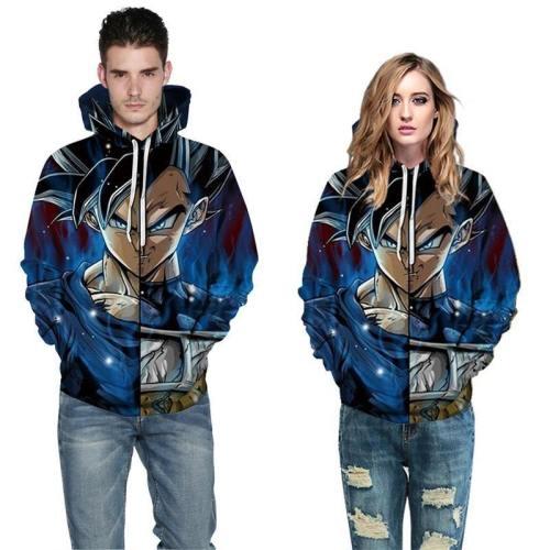 Mens Hoodies 3D Printed Dragon Ball Printing Pattern Sweatshirts