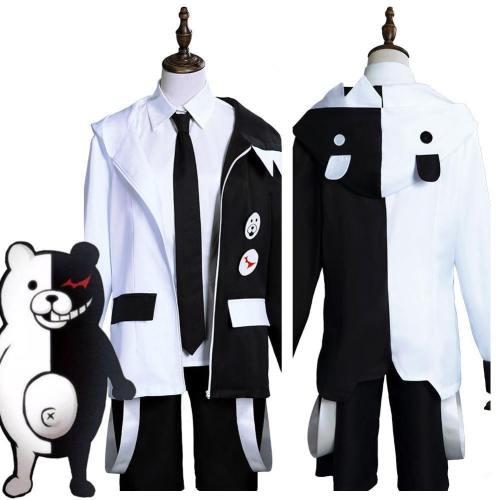 Anime Danganronpa Monokuma Men Uniform Outfits Halloween Carnival Suit Cosplay Costume