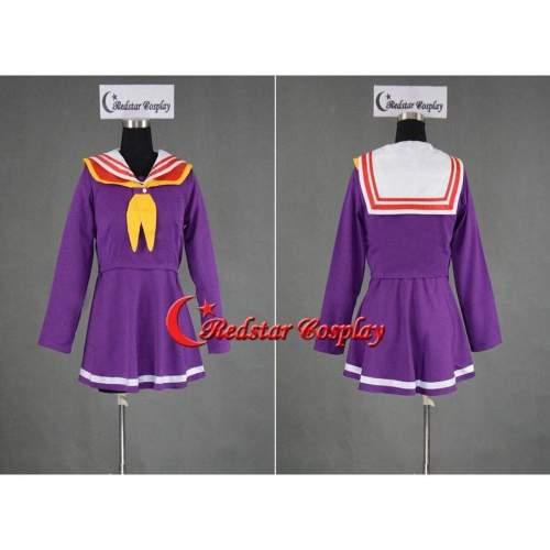 No Game No Life Cosplay Dress Shiro Costume Purple Sailor Uniform Custom In Any Size