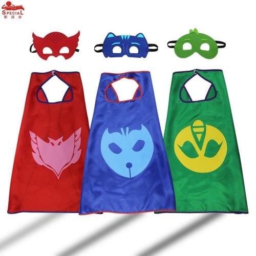 Light Cartoon Cape Mask For Kids Cosplay Toys Masks Costume Brand Dress Birthday Party