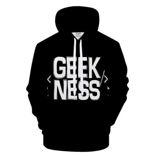 Geekness 3D - Sweatshirt, Hoodie, Pullover