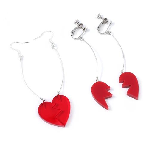 Jojo'S Bizarre Adventure Pierre Polnareff Splice Heart Clip Earrings