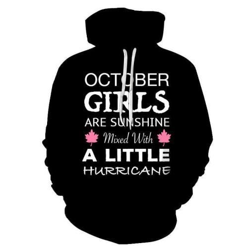 Black October Girl 3D - Sweatshirt, Hoodie, Pullover