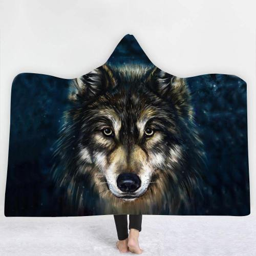 Special Offer: Majestic Staring Wolf Hooded Blanket