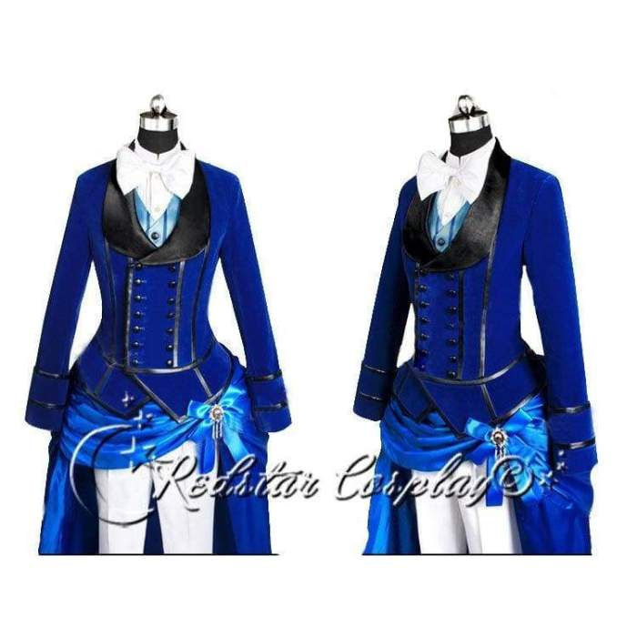 Black Butler Cosplay Ciel Phantomhive  Blue Costume -Custom made in Any size