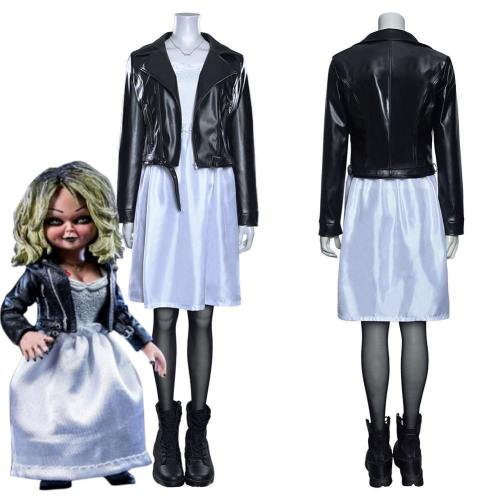 Bride Of Chucky Tiffany Coat Dress Outfits Halloween Carnival Suit Cosplay Costume