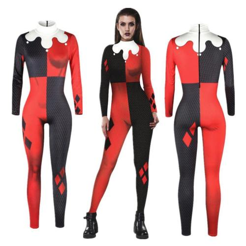Suicide Squad Harley Quinn Jumpsuit Catsuit Sexy Costumes Halloween Bodysuit Cosplay