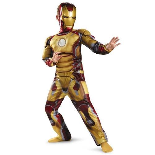 Kids Avengers Iron Man Mark Muscle Children Halloween Costume Boys Superhero Cosplay Costumes