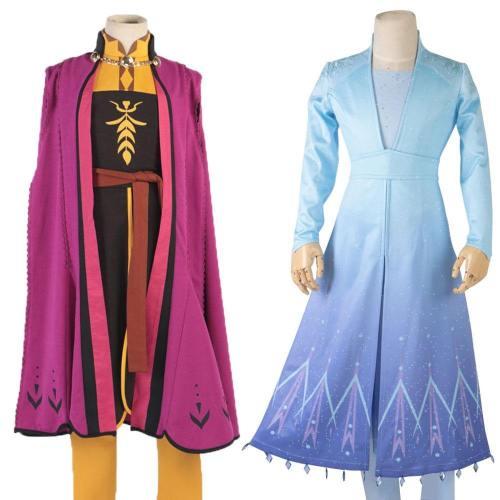 Frozen 2 Cosplay Ice Queen Kids Elsa Dress Costume Cosplay Elsa Anna Costume Princess Snow Elsa Outfit Full Set