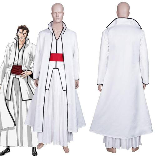 Anime Bleach Aizen Sousuke Coat Top Outfits Halloween Carnival Suit Cosplay Costume