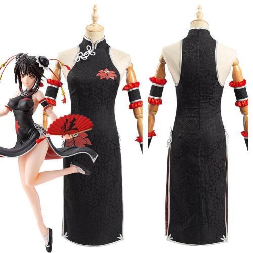 Anime Date A Bullet Tokisaki Kurumi Women Cheongsam Dress Halloween Carnival Costume Cosplay Costume