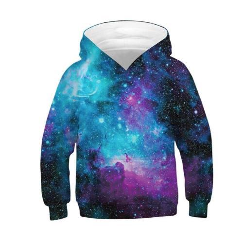 Teen Boys' Galaxy Hoodie Pocket Pullover Hoodies 4-16Y