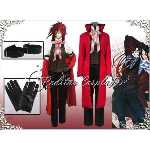 Black Butler Shinigami Grell Sutcliff Cosplay Costume - Custom made in any size