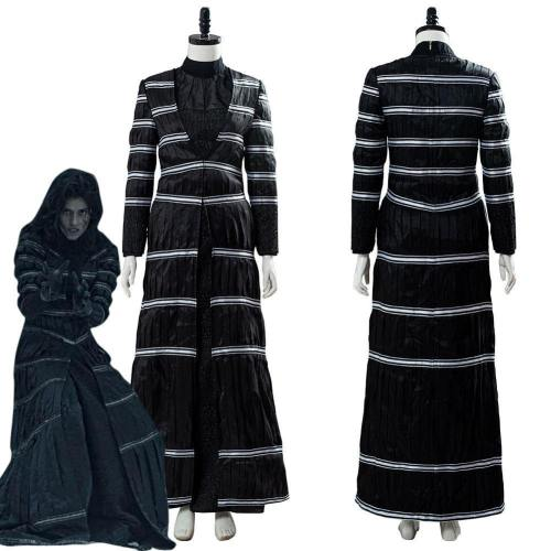 The Witcher Yennefer Of Vengerberg Blouse Trousers Set Stripe Black Thin Coat Cosplay Costume