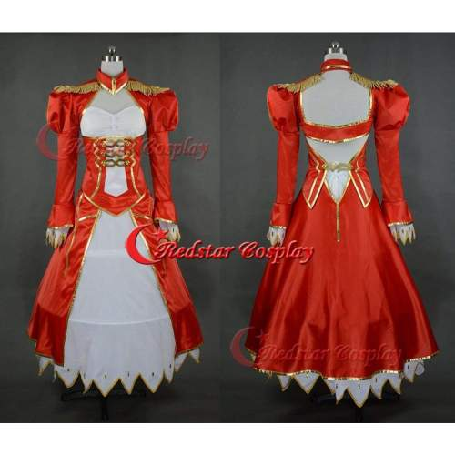 Fate /Stay Night Saber Nero Cosplay Costume Saber Lily Dress Custom In Sizes