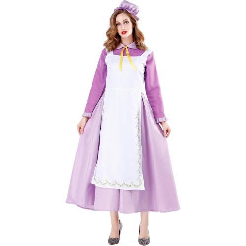 Mrs Potts Dress Costume Maid Clothes