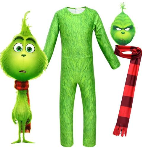 How The Grinch Stole The Grinch Cosplay Costume Jumpsuit Christmas Gift For Kids