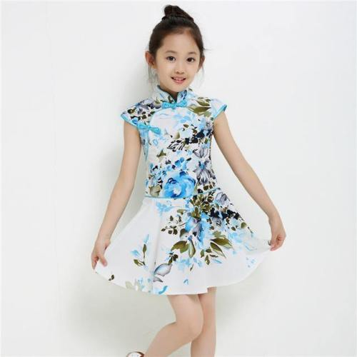 1-13T Baby Girls Dress Casual Teenagers Performance Costume Kids Girl Party Children Clothing