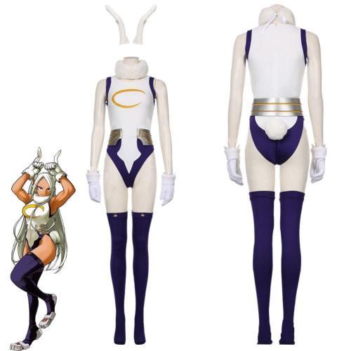 My Hero Academic Rabbit Jumpsuit Bunny Girl Cosplay Bodysuit Rompers Suit Miruko'S Sexy Jumpsuit Cosplay Costume