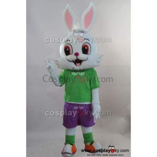 Rabbit Bunny Mascot Cosplay Costume Adult Size