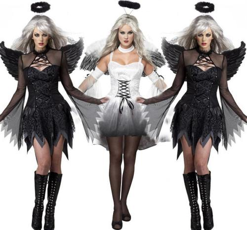 Halloween Dark Angel Sexy Dress Women Costume
