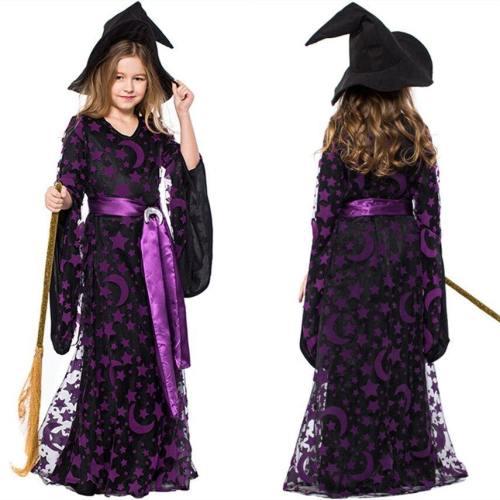 Witch Dress Halloween Costumes Cosplay Girls Stage Performance Clothing