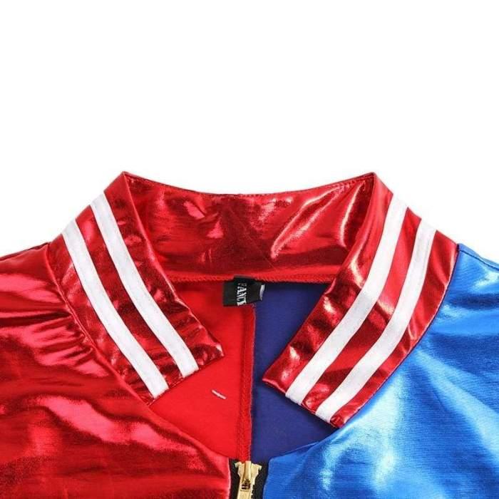 New Batman Suicide Squad Harley Quinn Cosplay Costumes Woman Coats Femme Jacket Chamarras De Batman Para Mujer Plus Size S-XL
