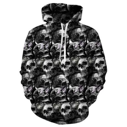 Mens Hoodies 3D Printed Skull Printing Hoodies