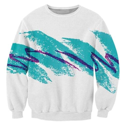 Mens Pullover Sweatshirt 3D Printing 90'S Jazz Solo Cup Pattern