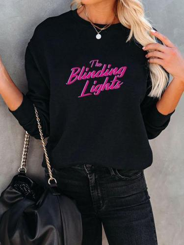 The Blinding Lights Crewneck Black Sweatshirt